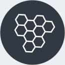 Une icône d'une ruche.