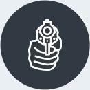 Une icône d'un pistolet.