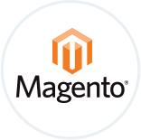 Le logo du CMS Magento.