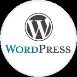 Le logo du CMS WordPress.